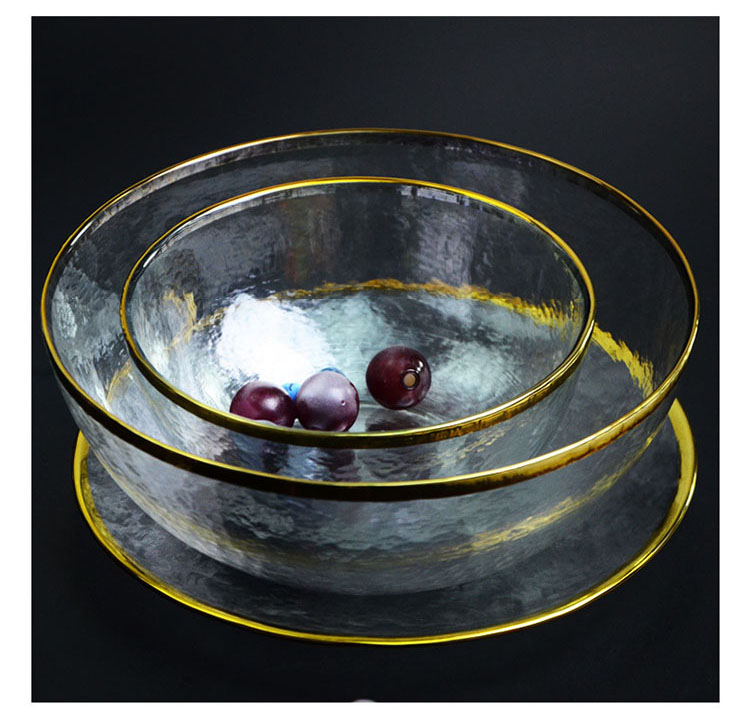 Best Selling Products Tableware Creative Thickened Multiple Size Glass Snacks Dishes Serving Candy Fruits Tray Plate Salad Bowl