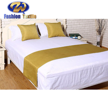 Good price hotel satin bed green runner throws