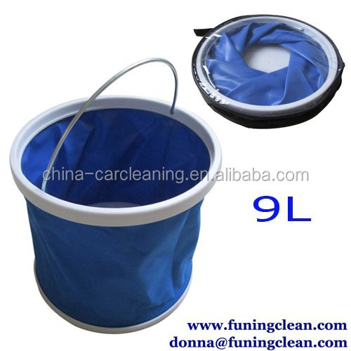 Foldable Waterproof Car Wash Bucket,Camping Fishing Washing Portable Folding Bucket Outdoor Foldable Water Pail