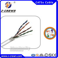 FTP 4 pairs Bare Copper Cat5 Lan Cable Yellow Ethernet Cable