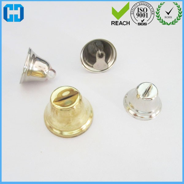 Trumpet Shape Metal Jingle Bells With Sound For Decoration