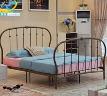 Home bedroom furniture double metal bed in malaysia