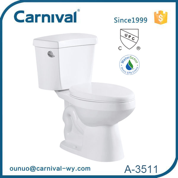 Chinese public CUPC single flush one piece toilet A-3511