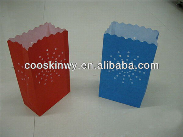 Colorful luminary lantern paper candle bags