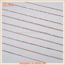 China Supplier online wholesale 2017 Fashion dainty thin Various Rose gold plated 925 sterling silver chains for jewelry making