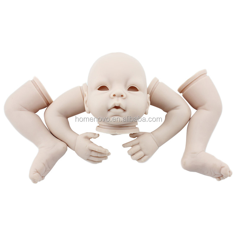 China Factory Wholesale 22inch Lifelike DIY Full Body Silicone Vinyl Reborn Baby Doll Mold Kit