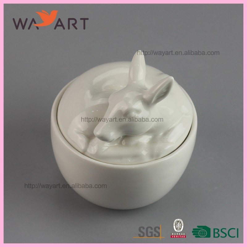 Animal Shaped Ceramic Weed Jar With High Quality