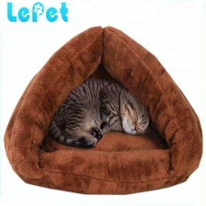Manufacturer wholesale Custom logo soft warm cat cave felt cave cat bed