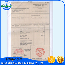 SHENZHEN CHINA CERTIFICATE of ORIGIN SERVICE EXPORT GENUINE LEATHER JACKET DIGITAL FORM E PHOTO FRAME in SHENZHEN