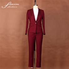 Ladies wool/Polyester designer pants trousers suits jacket suits