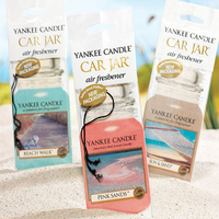 Yankee Candle Car Jars Air Freshener for christmas, screen printing paper air freshener