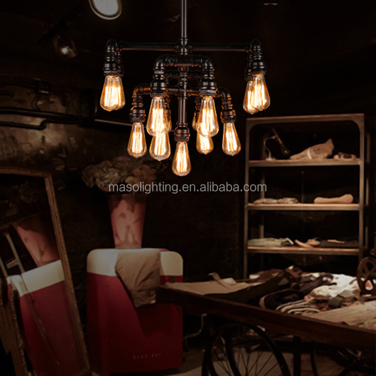 Ceiling chandeliers zhongshan lighting factory friendship lamps Chinese lights metal lampshade