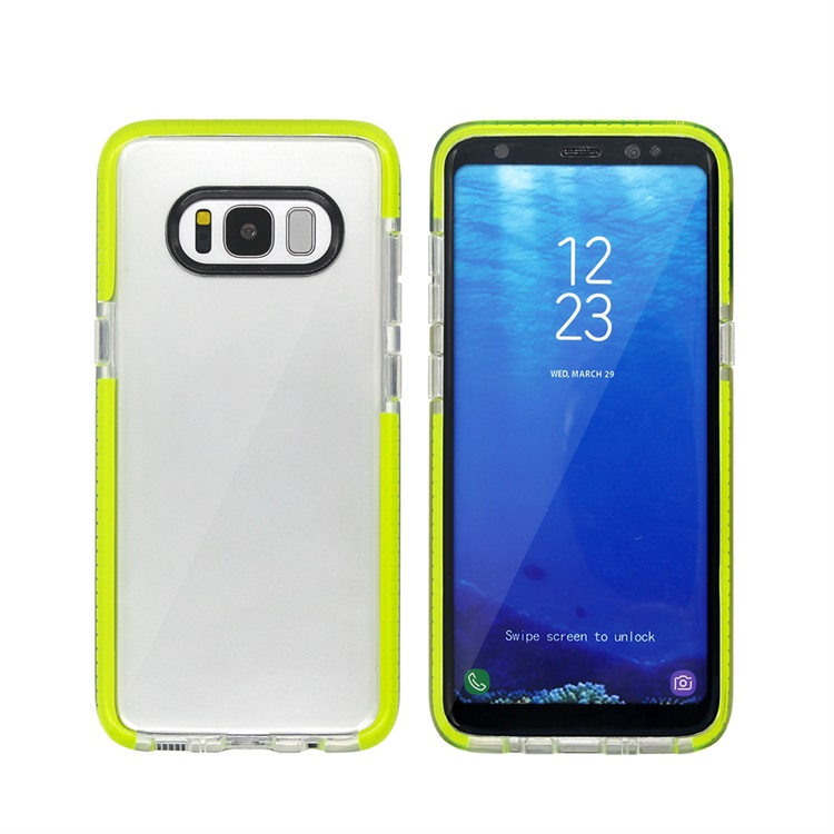New transparent TPU colorful bumper mobile cover for Samsung Galaxy S8