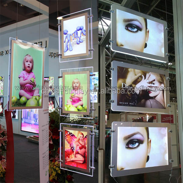 popular led window displayed magnetic photo frame