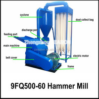 Diesel Engine 9FQ Corn Stalk Straw Hammer Mill for Agricultural Waste