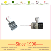 Date stamp roller rubber stamp automatic numbering stamp with iron stand