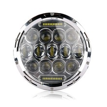 2015 New Arrival 1 Set 7 Inch Round LED Headlights 75W Hi/ Lo 7500LM Work Lamps DRL Fog Driving Lights