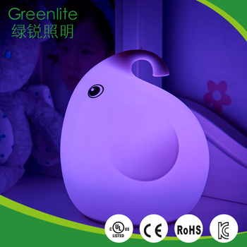0.4W elephant lamp baby silicone night light