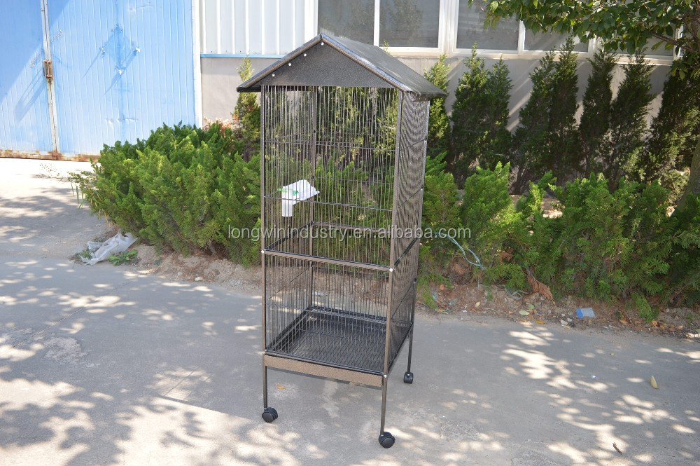 Iron Wire Breeding Bird Cage with water fountain