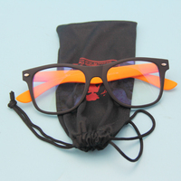 Custom Printed Microfiber Eyeglasses Pouch With Drawstring