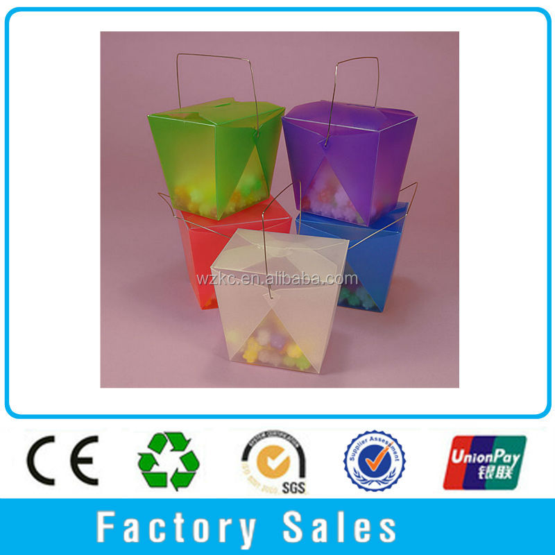 Eco-Friendly !! Colorful clear hard easter plastic take out pail