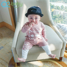 2018 Comfortable Spring Baby Girl And Boy Shirt+Pants Boutique Clothing Set