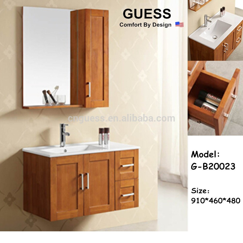waterproof bathroom cabinet solid wood bathroom vanity g