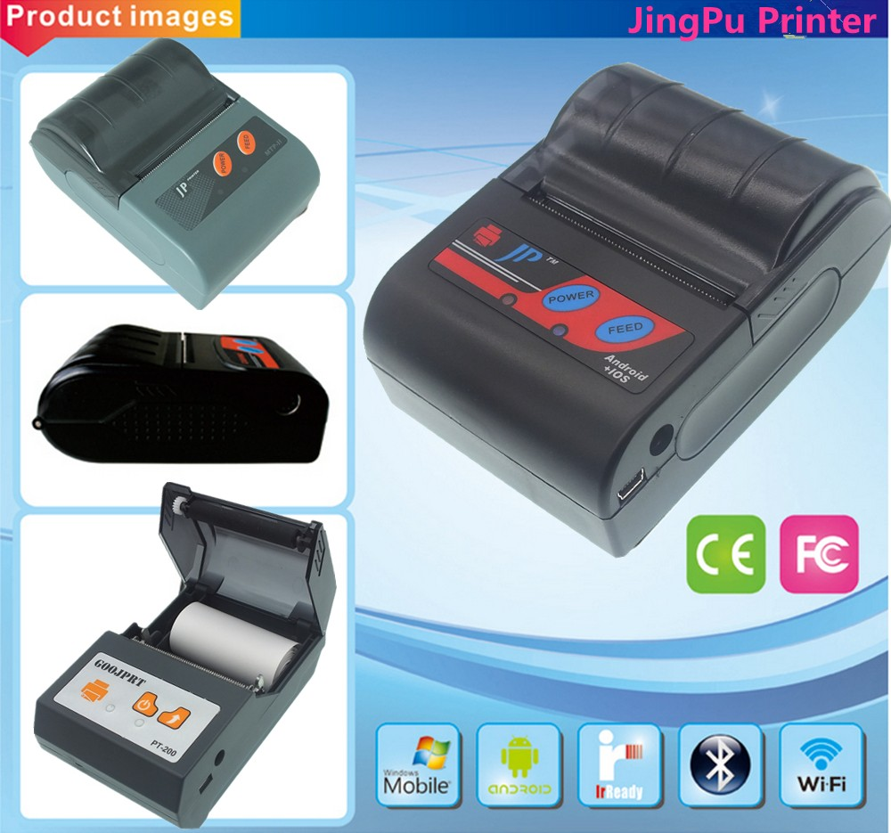 58mm pocket printer mobile thermal printer with bluetooth printer