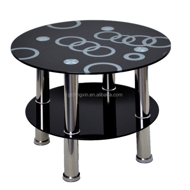 round coffee table with photos of glass top modern fashion smart design