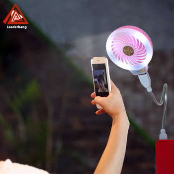 Fill flash led light usb small fan beauty min fans for smartphone