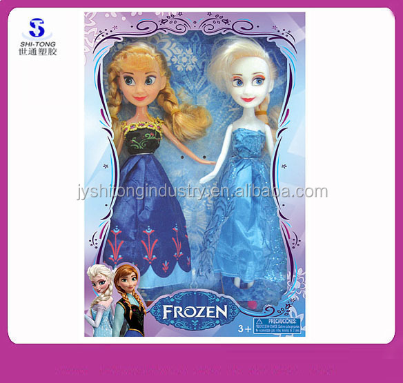 New Frozen Doll Anna Elsa Princess Doll Set Cute Action Figures Dolls 2Pcs Set Classic Mini Baby Toys Wholesale