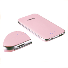 China Cheap Plastic White gold rosy etc power bank ultra slim japan cell from vipow of