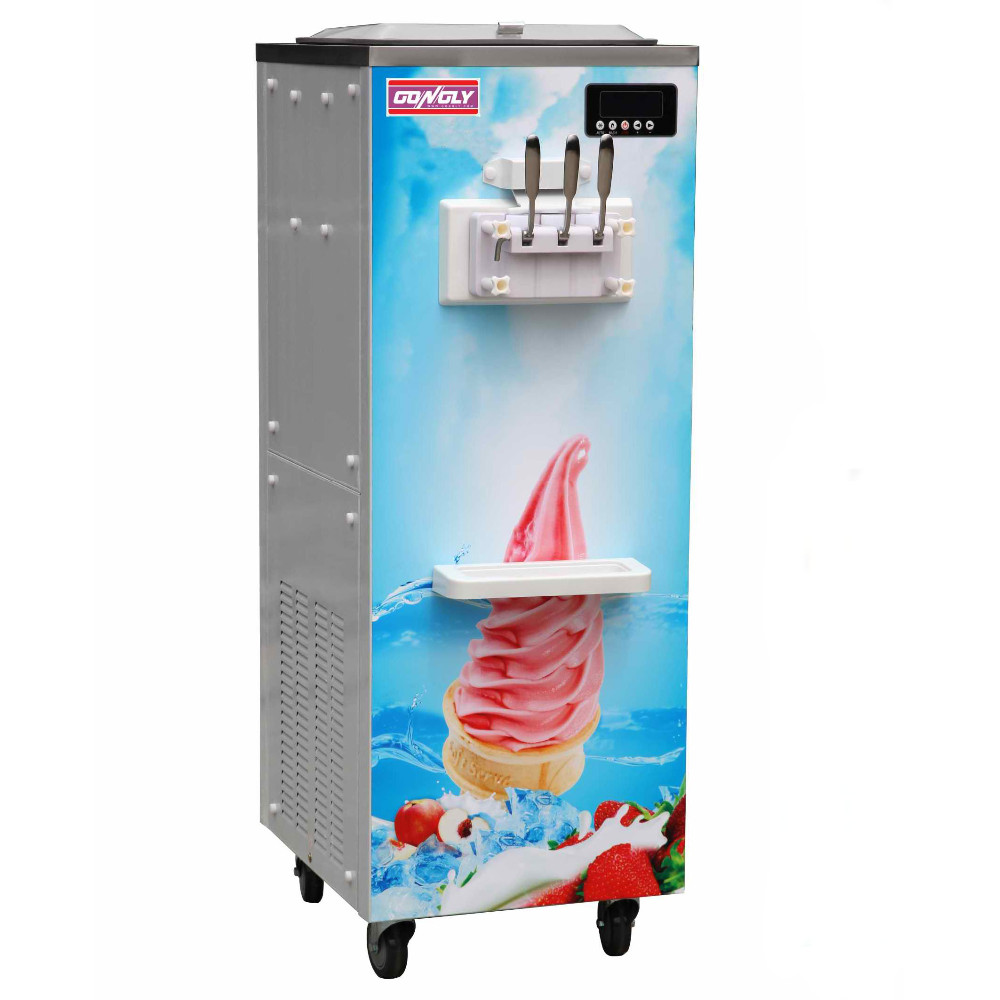 Gongly High class atomatic wash/fresh function table top ice cream machine for Egypt market