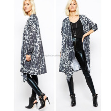 {OEM} 2016 Spring loose version leopard kimono cardigan blouse for women 9118