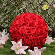 Wholesale wedding decoration round flower balls artificial silk flower ball