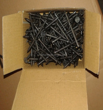 "serrated nails black color flat head size:1"", 1.5"",2"",2.5"",3"",4"",5"""