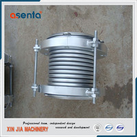 flexible metal bellow slip type pipe expansion joint for pump