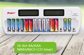 16 Bay Smart Fast Charging Ni-MH AA AAA Battery Charger