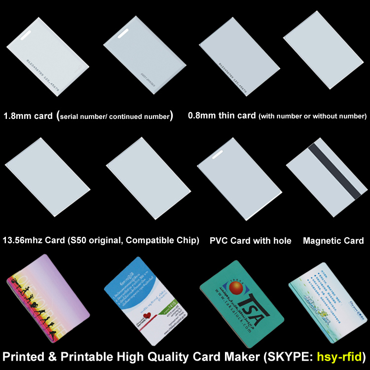 High quality PVC plastic proximity smart printable 125khz t5577 rfid card with programmable