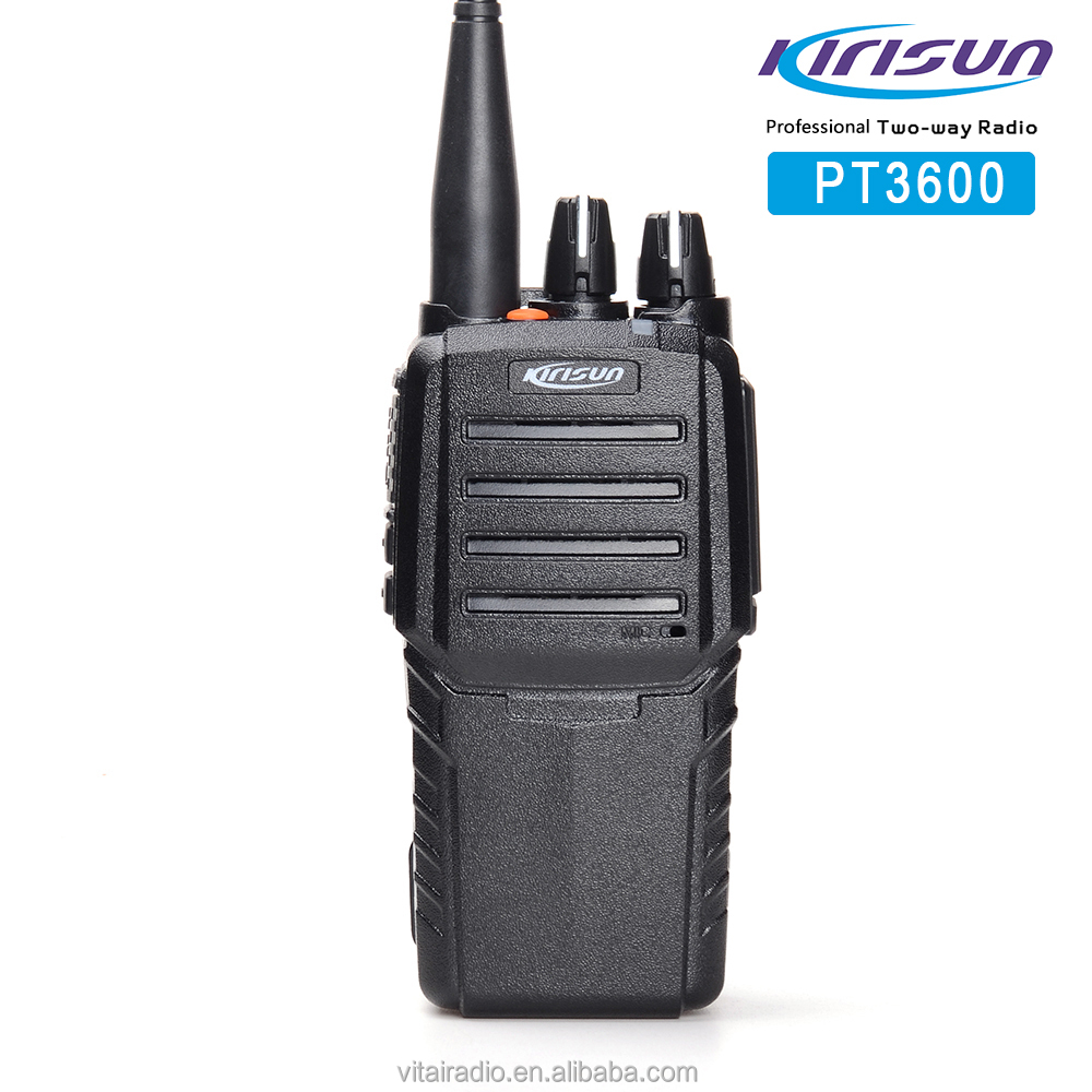 Kirisun PT-3600 Professional Handheld Transceiver VHF/UHF 16Ch 7.5V 1300mAh VOX Function Two Way Radio