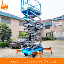 semi electric scissor lift hydraulic rise work platform with SJZ0.5-9