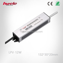 SGS,CE,ROHS,TUV approved led power supplier waterproof led LPV-12W
