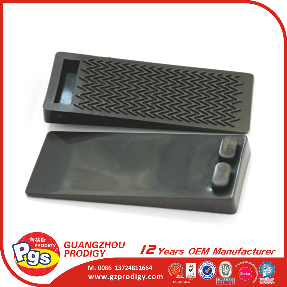 Flexible Black Rubber Door Stopper