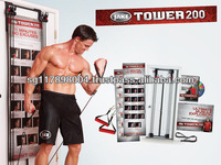 Tower 200 Door Exercise Machine - Includes Hand Grips Ankle Straps DVD Exercise Chart + Provides Up to 200 Exercises