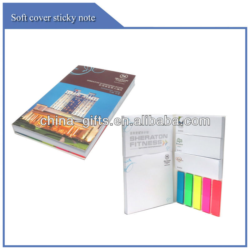 Promotional custom printing writing Pad with Flags for Advertising Gifts