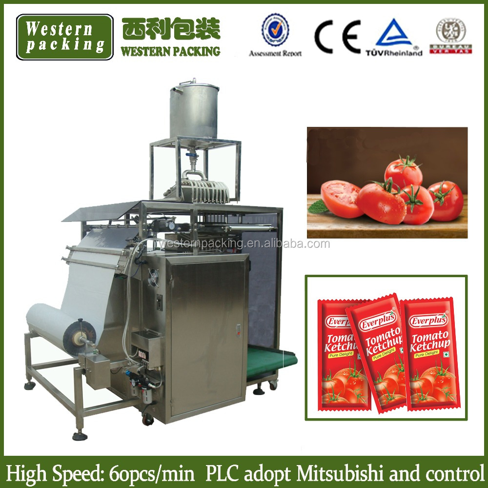 tomato ketchup packing machine, tomato paste packing machine, soy sauce sachet packing machine