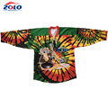 2017 New design best quality sublimation printing funny hockey shirts