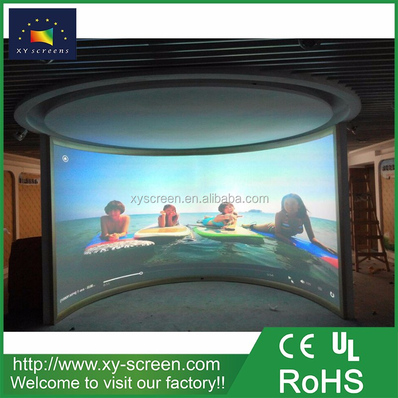 XY SCREEN 180 degrees circular projection screen with black projection screen fabric