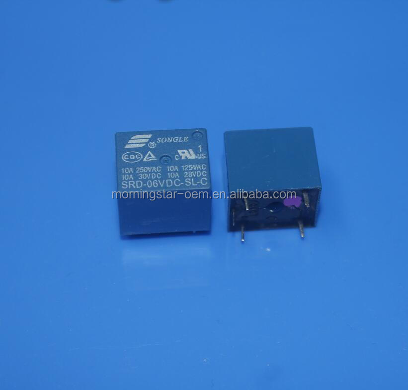 6V Relay 5 PIN Conversion Type 250VAC SRD-06VDC-SL-C SRD-06V SRD-06VDC SRD-06VDC-SL 10A Power Relay