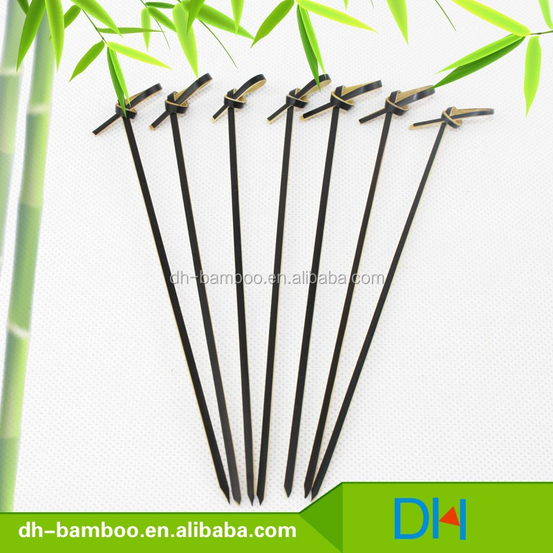 Disposable Bamboo Knotted Skewers/Looped Bamboo Sticks,bamboo fruit sticks/skewer/picks for sale